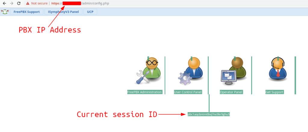 freepbx login screen