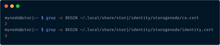 storj node operator identity